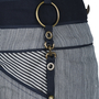 Authentic Second Hand Anthony Vaccarello Pinstriped Denim Skirt (PSS-200-00816) - Thumbnail 2