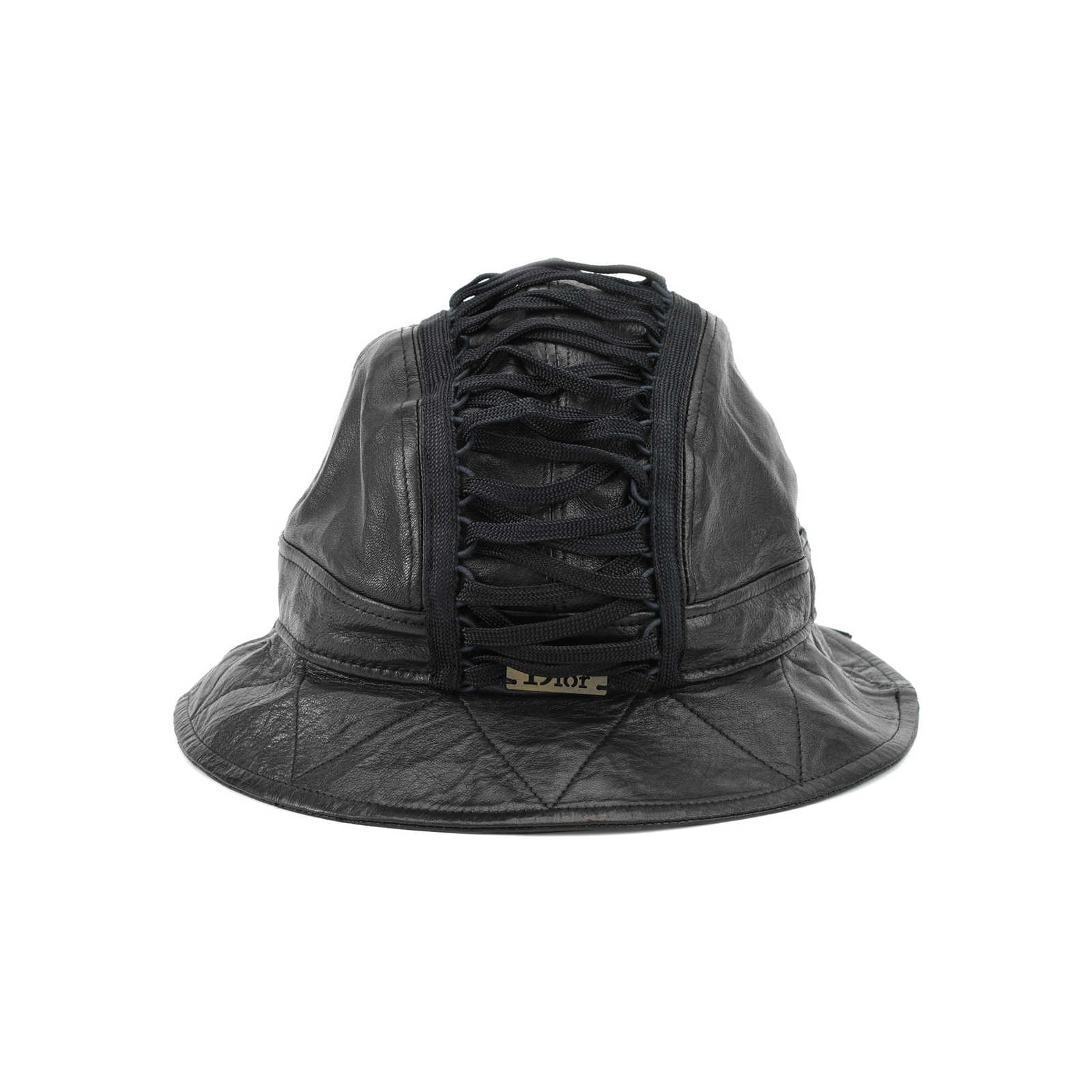 Authentic Pre Owned Dior Leather Bucket Hat (PSS-200-00840) - Thumbnail ... 0b501108452