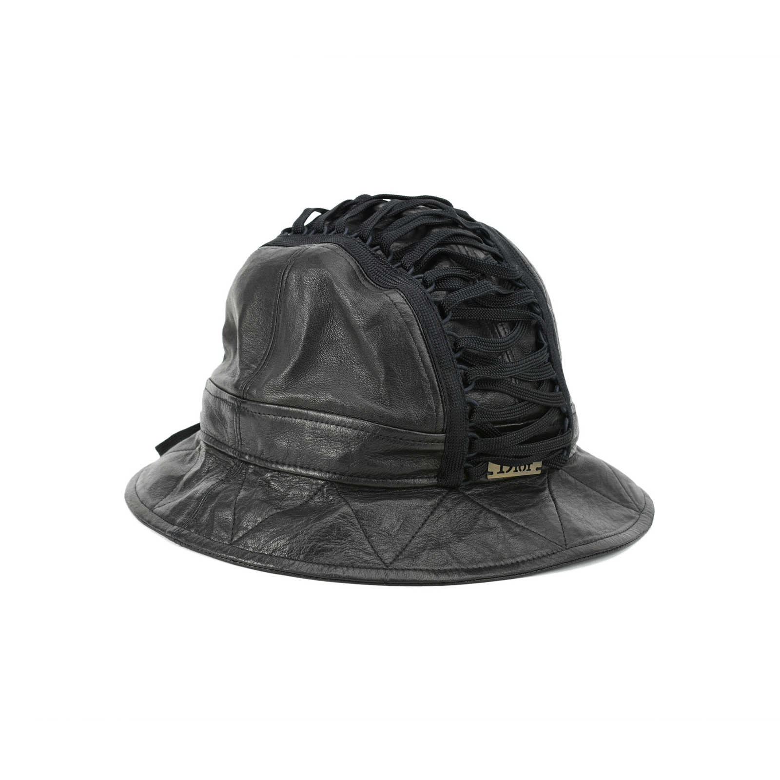 19b82cd8dc7b2 ... Authentic Second Hand Dior Leather Bucket Hat (PSS-200-00840) -  Thumbnail ...