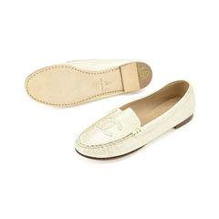 Chanel gold flat shoes 2?1509349799