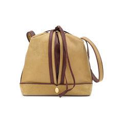 Two-toned Leather Bucket Bag