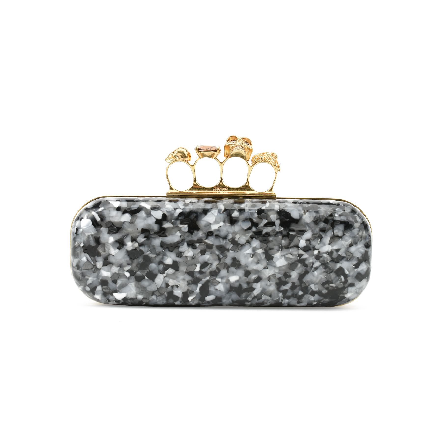 1c62cb39b935b Authentic Second Hand Alexander McQueen Plexiglass Knuckle Box Clutch  (PSS-357-00020) - THE FIFTH COLLECTION