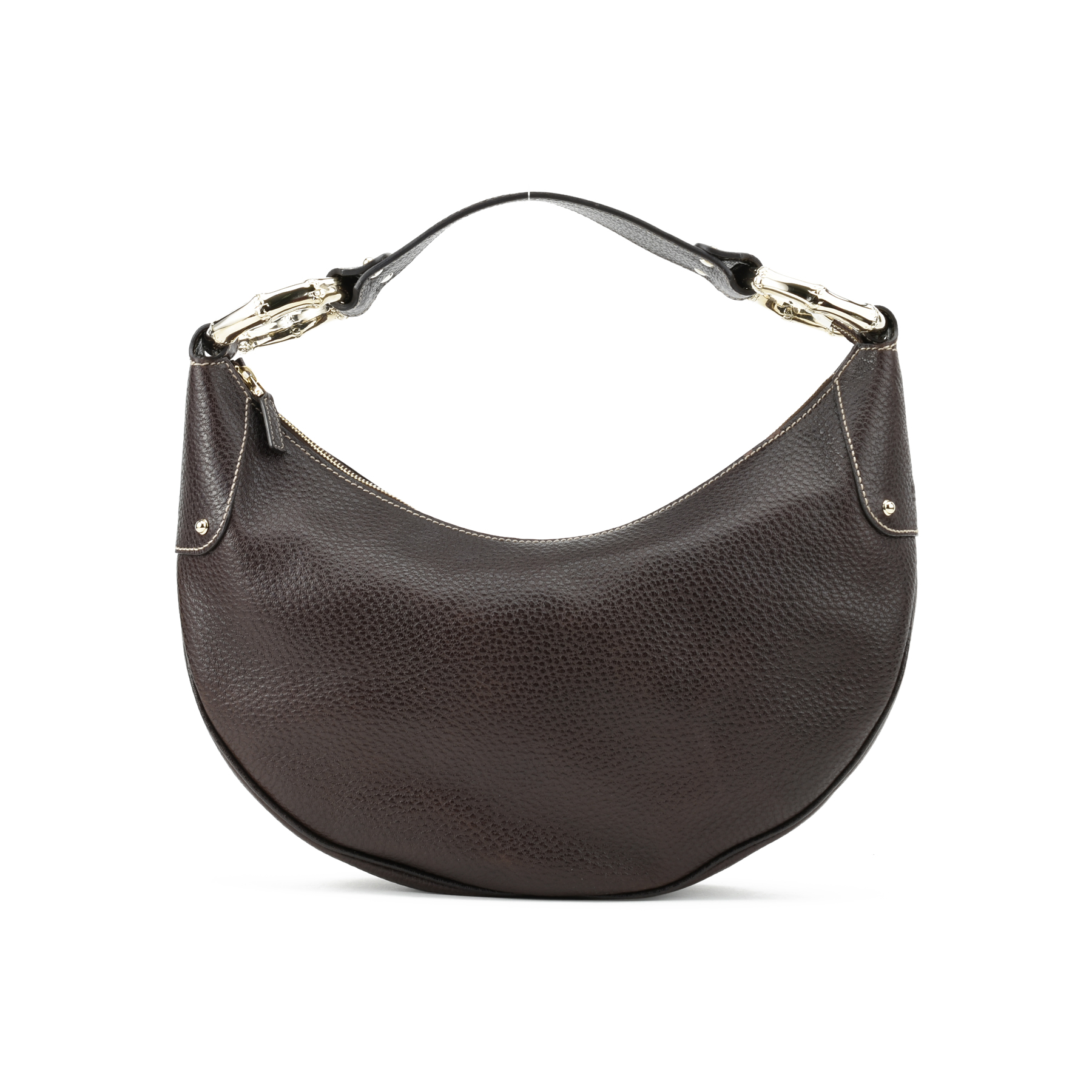 67a0ad55a Authentic Second Hand Gucci Half Moon Bamboo Hobo Bag (PSS-397-00007) - THE  FIFTH COLLECTION