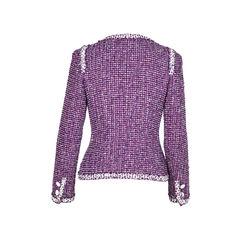 Chanel purple tweed jacket 2?1509357122