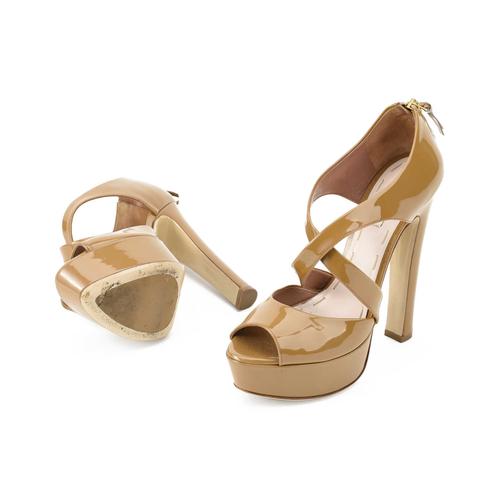 11e7a44f0c5f Miu Miu Patent Platform Sandals Great Deals Sale Good Selling Free Shipping  Factory Outlet Hot Sale