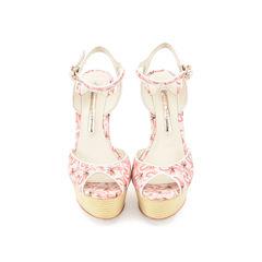 Lula Dreamy Flamingo Wedge Sandals
