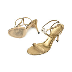 Gucci gold metallic sandals 2?1509357361