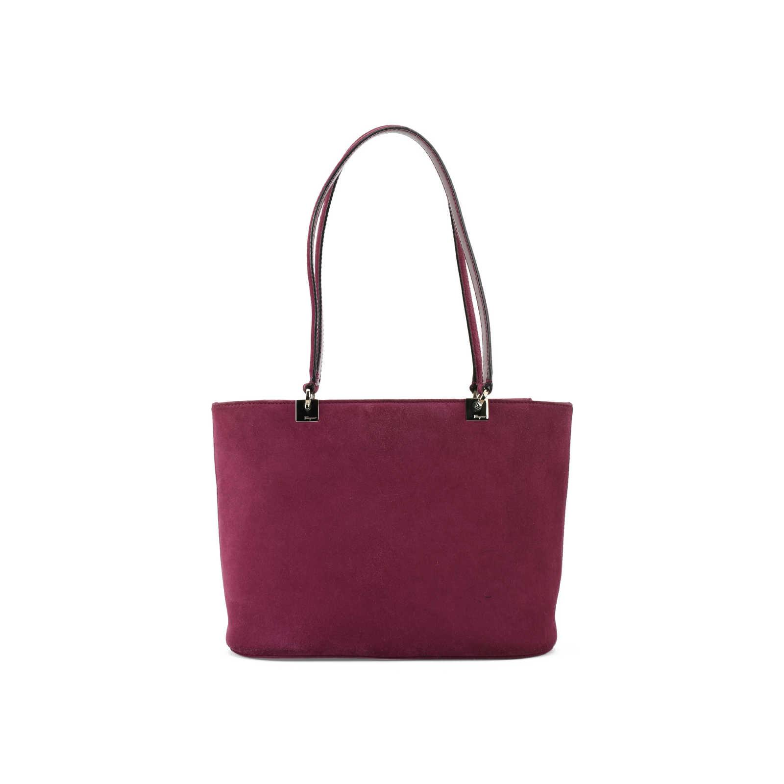 8d42d651f92 Authentic Second Hand Salvatore Ferragamo Suede Tote Handbag  (PSS-377-00050) ...