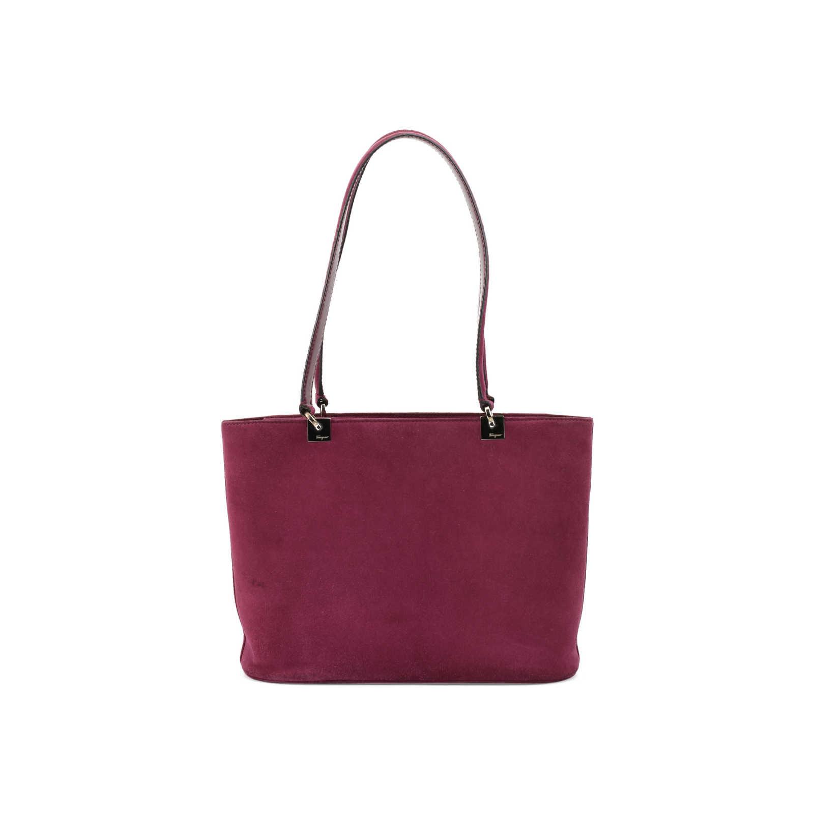 7a42bd41cd8d ... Authentic Second Hand Salvatore Ferragamo Suede Tote Handbag  (PSS-377-00050) ...
