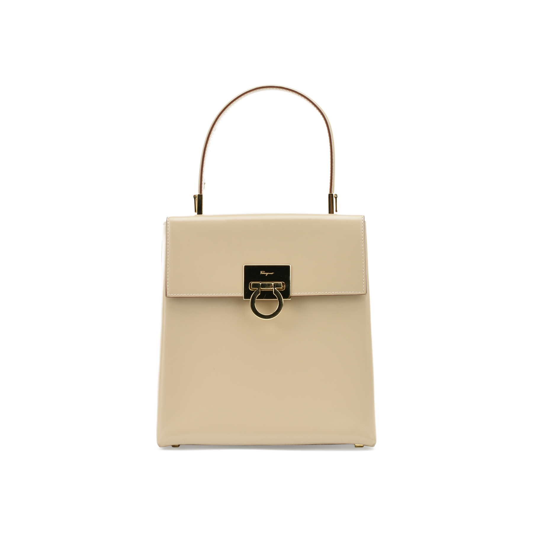 f91a0e62358 Authentic Vintage Salvatore Ferragamo Lady Gancini Kelly Bag  (PSS-377-00051)   THE FIFTH COLLECTION®