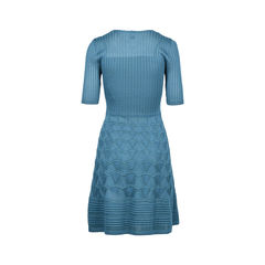 M missoni knit dress blue 2?1509458982