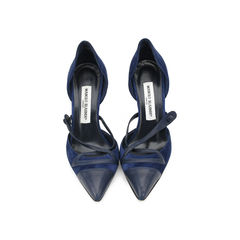 Pointed Crisscross Pumps