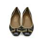 Authentic Second Hand Yves Saint Laurent Tuxedo Satin Bow Flats (PSS-054-00167) - Thumbnail 0