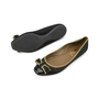 Authentic Second Hand Yves Saint Laurent Tuxedo Satin Bow Flats (PSS-054-00167) - Thumbnail 1