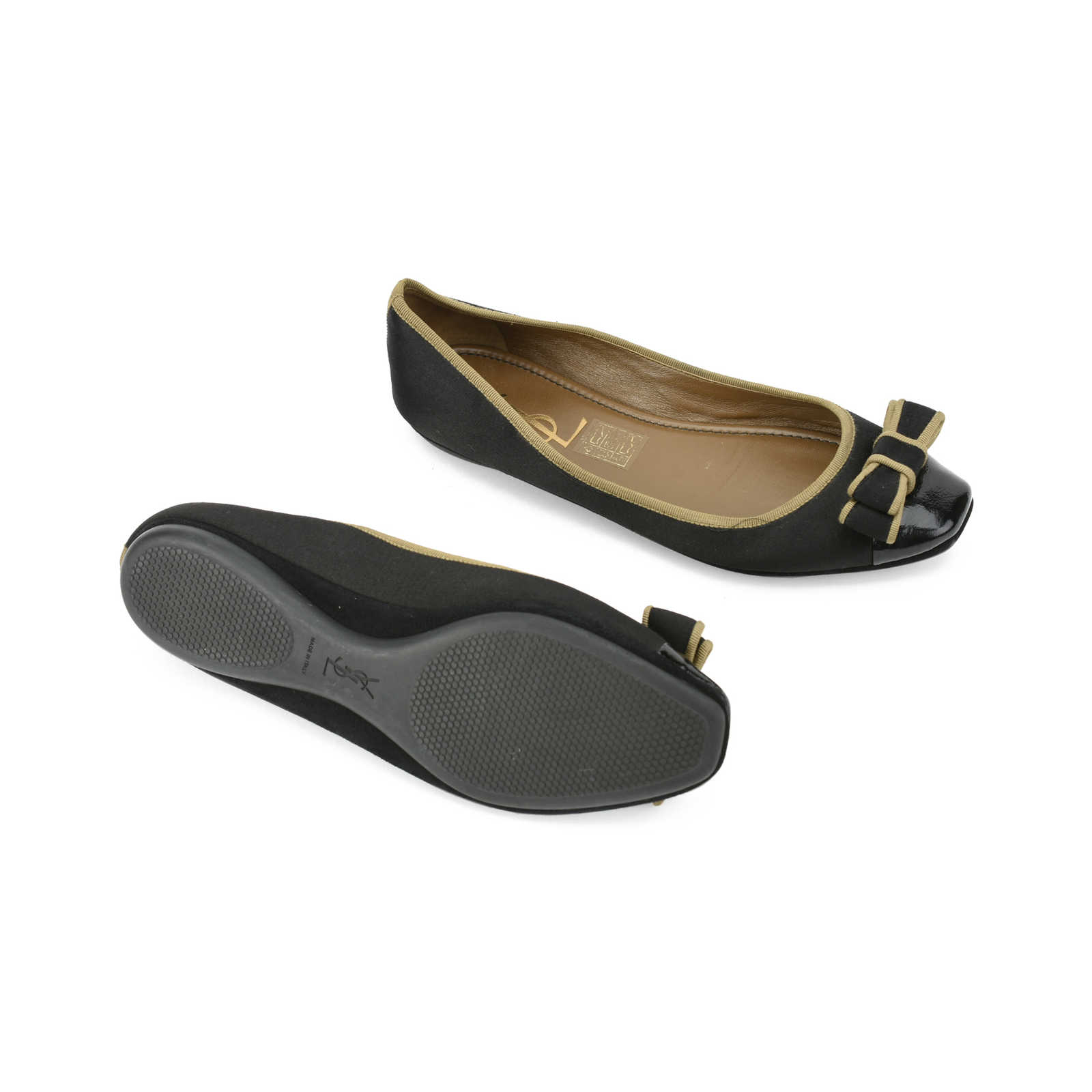 Yves Saint Laurent Satin Bow Flats sale view best for sale looking for cheap online wiki sale latest collections 4ul4f