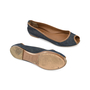 Authentic Second Hand Yves Saint Laurent Denim Peep-toe Flats (PSS-054-00139) - Thumbnail 2