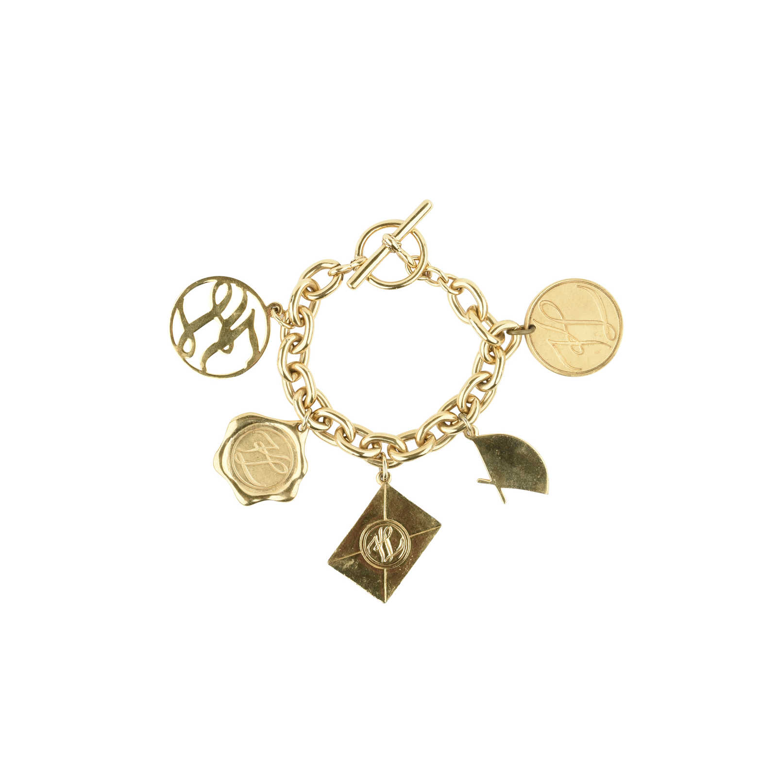 Karl Lagerfeld Gold Plated Charm Bracelet xK2da