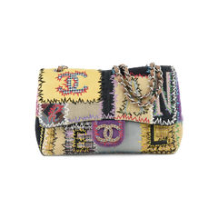 Patchwork Jumbo Flap Bag
