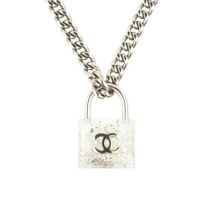 necklace key product nomination swarovski sterling zirconia black padlock silver secrets