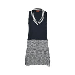Crochet-knit Sleeveless Shift Dress