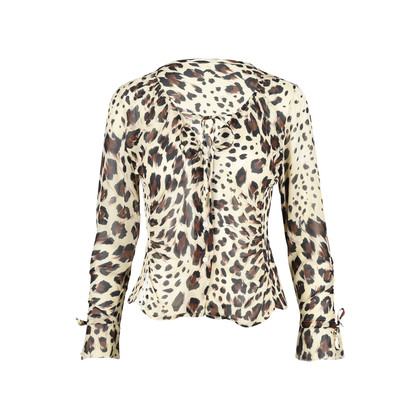 Authentic Second Hand (unbranded) Leopard Print Top (PSS-377-00037)
