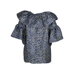 Merchant archive ruffled metallic jacquard top 2?1510194512