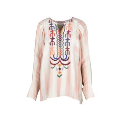 Embroidered Striped Blouse