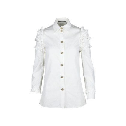 Authentic Second Hand Gucci Ruffled Sleeve Shirt (PSS-051-00222)