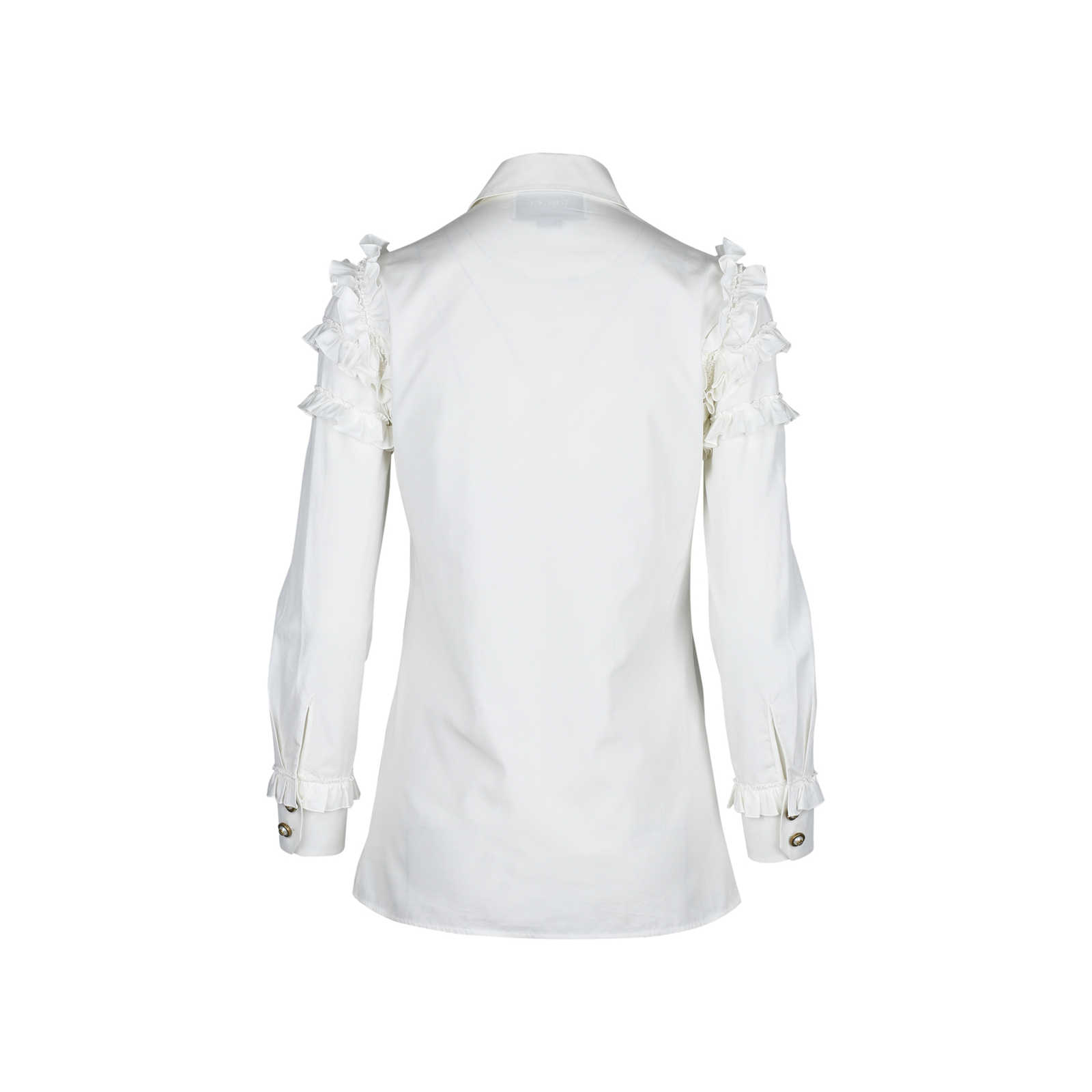 65436beb453 ... Authentic Second Hand Gucci Ruffled Sleeve Shirt (PSS-051-00222) -  Thumbnail ...