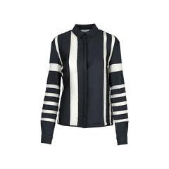 Striped Sheer Panel Shirt