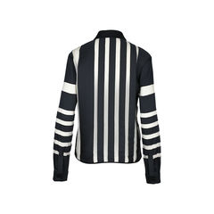 J js lee striped sheer panel shirt 2?1510194822