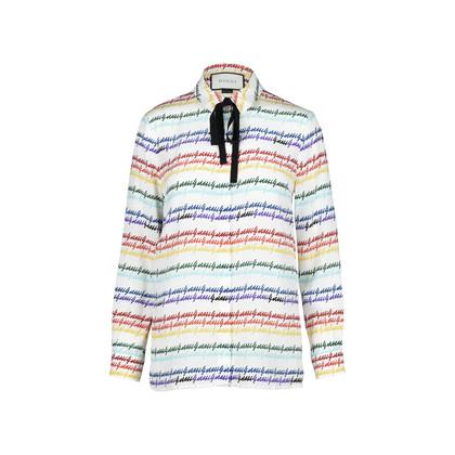 Gucci Gucci Print Silk Shirt