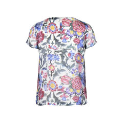 Chanel sheer floral print blouse 2?1510195742