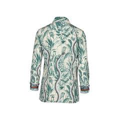 Gucci embellished printed silk crepe de chine shirt 2?1510195797