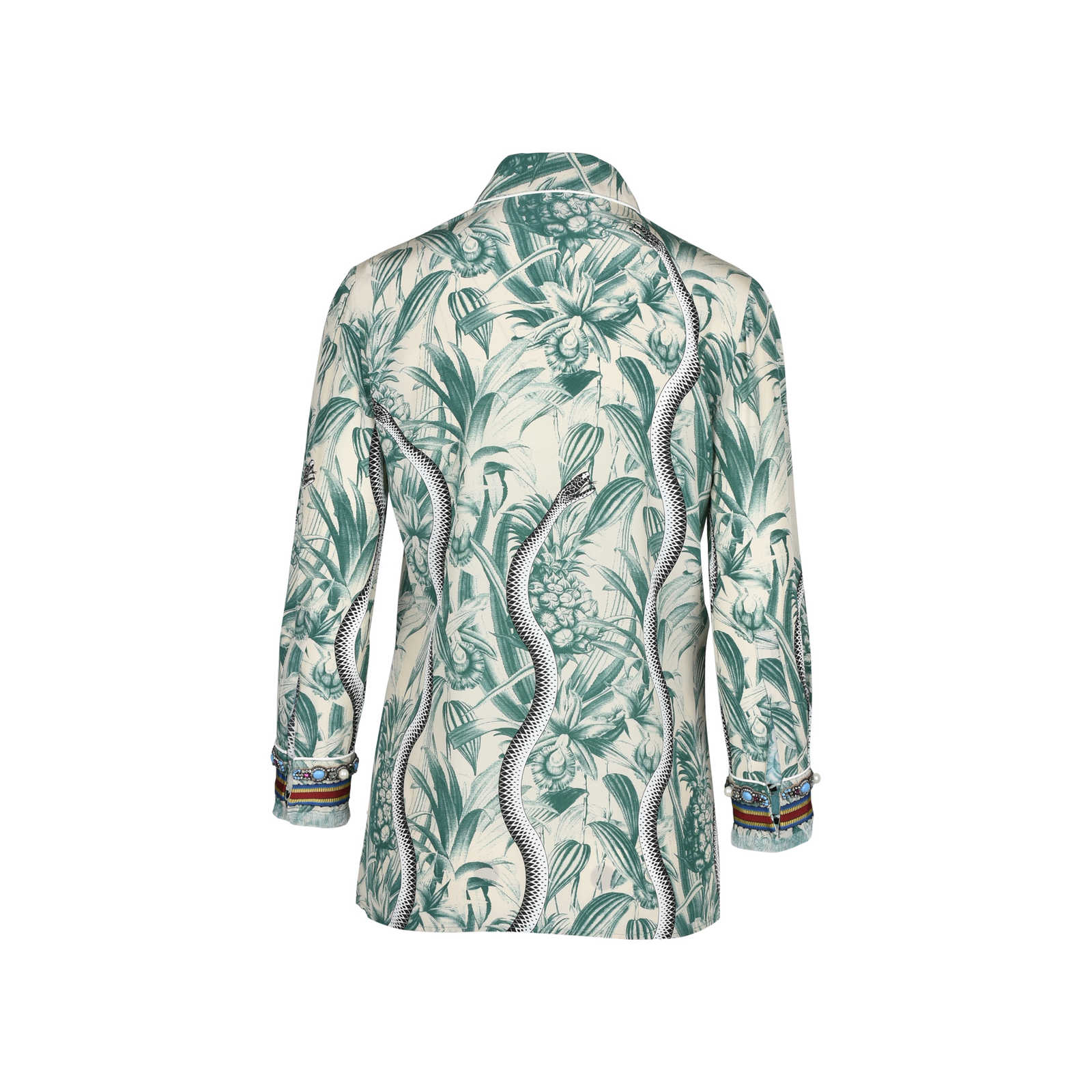 d6b5a5e3461b ... Authentic Second Hand Gucci Embellished Printed Silk Crepe De Chine  Shirt (PSS-051- ...