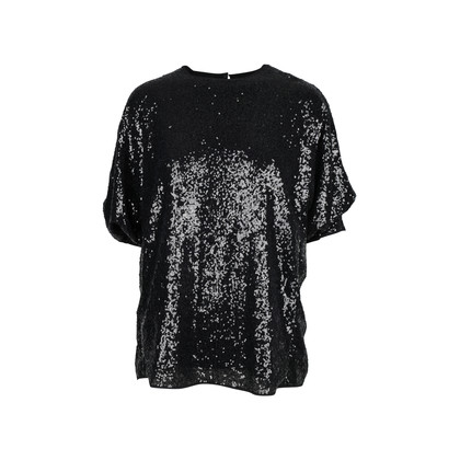 Authentic Second Hand Victoria Victoria Beckham Sequin Tucked Sleeve Top (PSS-051-00225)