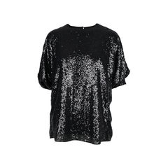 Sequin Tucked Sleeve Top