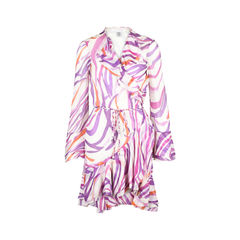 Persa Abstract Wrap Dress