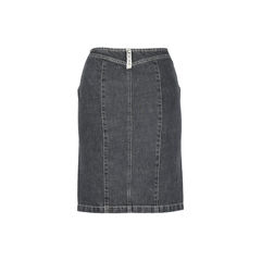 Sportmax code hook closure denim skirt 2?1510636923
