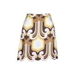 Retro Print Scallop Skirt
