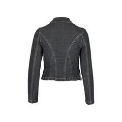 Sportmax code denim hook closure jacket 2?1510637082