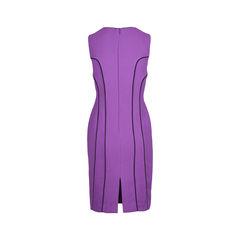 Black halo kinya sleeveless contrast piping sheath dress 2?1510739265