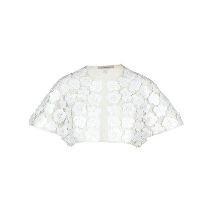 Authentic Second Hand See by Chloe Sequin Rosette Cropped Jacket (PSS-148-00017)