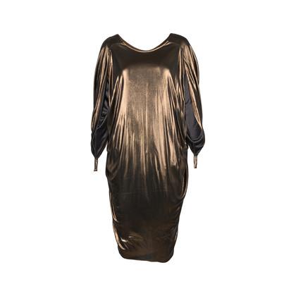 Authentic Second Hand Halston Metallic Low Back Dress (PSS-148-00019)