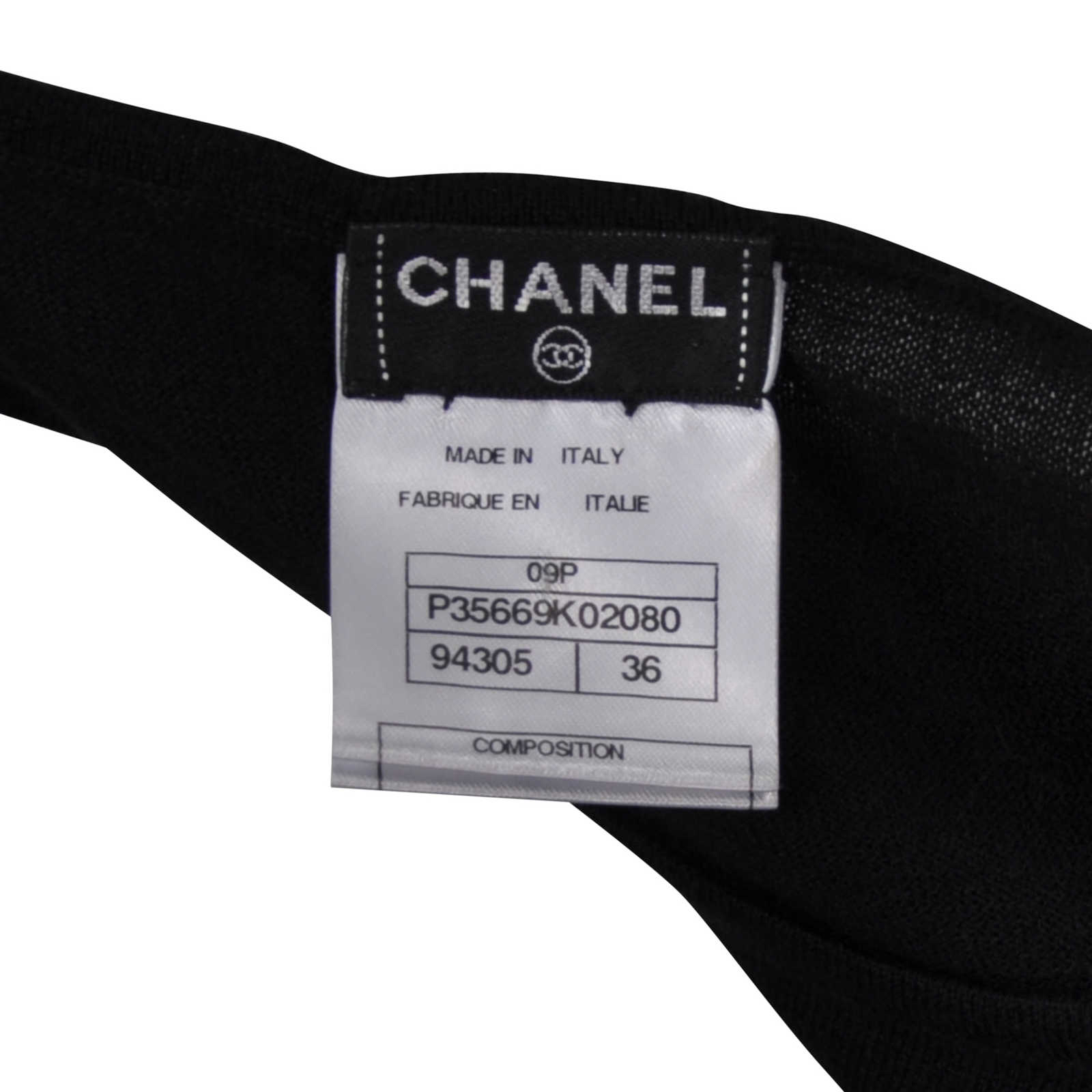 e87cb3f940181 ... Authentic Second Hand Chanel Cashmere Classic Flap Bag Detail Top  (PSS-246-00150