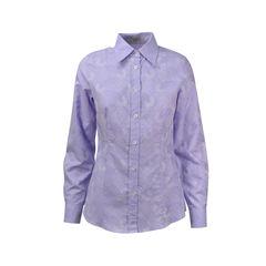 Lavender Tonal Paisley Shirt