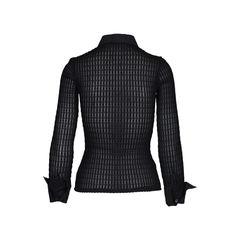Rayure long sleeve v neck textured top 1?1510828158