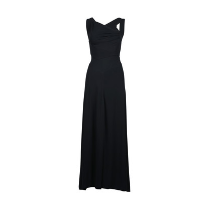 Authentic Second Hand Azzedine Alaïa Asymmetrical Draped Gown (PSS-049-00027)