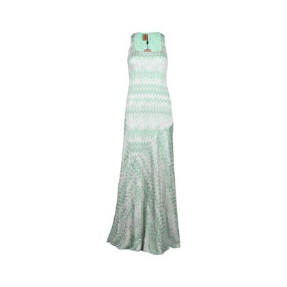 Authentic Second Hand Missoni Zigzag Lurex Long Dress (PSS-049-00030)