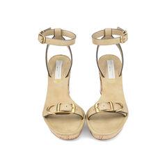 Natural Carrington Faux Leather Sandals